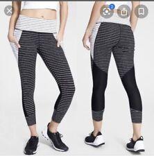 Athleta - Nwt - Xs - Stripe Relay C Black / White