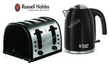 Russell Hobbs Kettle and Toaster Set Black Jug Kettle & 4 Slice Toaster New