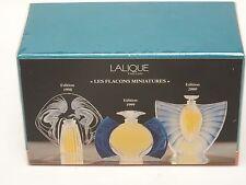 LALIQUE MINI PARFUM ULTIMATE COLLECTION LES INTROUVABLES 1998, 99, 2000 SEALED