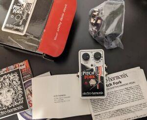 Electro Harmonix Pitch Fork Polyphonic Pitch Shifter. Pitchfork. Ehx Pedal