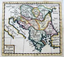 TURKEY GREECE  BY ROBERT MORDEN  c1704 GENUINE ANTIQUE COPPER ENGRAVED MAP