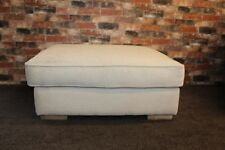 LARGE NATURAL FABRIC FOOTSTOOL (122)