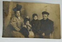 Small Art! Vintage Real Photo Post Card The Brannaus Family 1900's? AZO