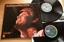 Glen Campbell LIVE NEW JERSEY Concert 2lp Capitol SMK 2200/01 GATEFOLD OIS