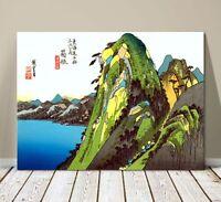 "Beautiful Japanese Art ~ CANVAS PRINT 8x12"" ~ Hiroshige Lake at Hakone"