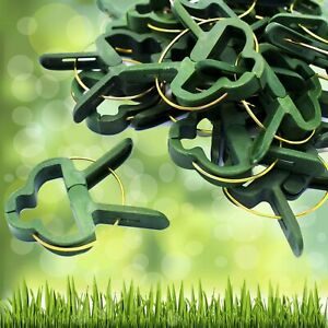 100x Pflanzenclips Pflanzenbinder Pflanzenklammer Binder Halter Pflanze