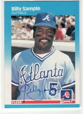 AUCTION BILLY SAMPLE ATLANTA BRAVES AUTOGRAPHED CARD