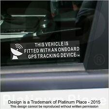 5 X a bordo de rastreo GPS dispositivo equipado stickers-car, Camioneta, barco, moto, signo de seguridad