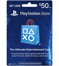 PlayStation Network PSN $50 USD - PSN Store Card - PS4 PS3 USA