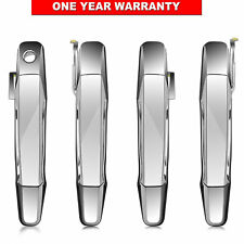 4pcs Outside Outer Exterior Door Handle Front Rear for Chevy Pickup Truck Chrome