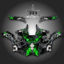 Polaris RZR 900 XP UTV Wrap Graphics Decal Kit 2011-2014 Skull Rider Green