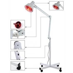 Infrarot Lampe Infrarotlampe Strahler Stand Wärmelampe mit Rädern 275W Timing