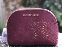 NWT Michael Kors Jet Set Travel Large Pouch Mulberry
