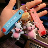 Cute Cow Doll Keychain Lovers Car Key Chain Womens Keyring Girl New Year Gifts