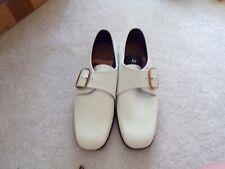 Vtg Mens White Dress Shoes Size 9 1/2