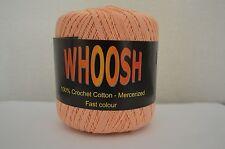 Balde 100% bolas de hilo de durazno del ganchillo del algodón mercerizado hilo suave de 400 yardas