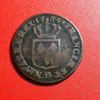 #1531 - RARE - Louis XVI Sol 1784 D Lyon - FACTURE
