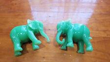 2 Lucky Green Elephant Elephant Figurine