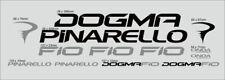 PINARELLO DOGMA F10 CUSTOM MADE FRAME DECAL SET BLACK/SILVER