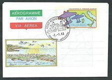1983 ITALIA AEROGRAMMA TRASVOLATA ATLANTICA FDC