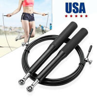 10FT Jump Rope Crossfit Boxing Weighted Ball Bearing Beaded Fitness Gym Speed US
