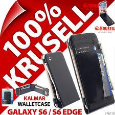 Krusell Kalmar Cuir Synthétique étui portefeuille rabat pour Samsung Galaxy S6/