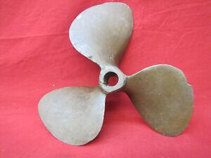 """Vintage 3 Blade Brass 12"""" Propeller Boat Prop"""