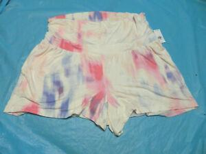 Old Navy Maternity Rollover-Waist Lounge Shorts Multi ColorTie Dye Sz Medium NWT
