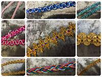 Metallic Coloured Sequined Decorative Trimming Embellishments