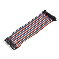 40PCS Dupont wire jumpercables 20cm 2.54MM male to female 1P-1P For Arduino WH