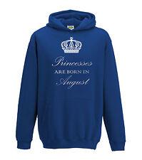 Juko Princesses Are Born In August Hoodie Girls Princess Hoody