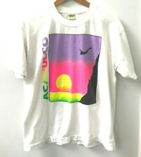 Acapulco Vintage T-Shirt Vtg Tee 1980's Tourist T-Shirt Neon Graphic Tee