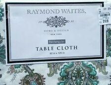 "RAYMOND WAITES  Tablecloth.          60"" X 120"" 100% COTTON Green,Brown,Beige"