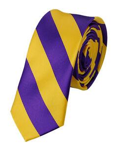 "Brand NEW! Manzini Neckwear® Men's 2"" Skinny College Stripe Woven Tie"