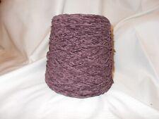 Chenille yarn dark plum approx. 1.5 lbs never used
