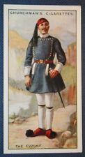Greek  EVZONE Soldier   Original Vintage 1920's Illustrated Card