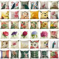 Cushion Cover Retro Flower Throw Decorative Pillow Case Pillow Cover Sofa Car