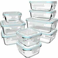 18 Piece Glass Food Storage Containers with Lids, Glass Meal Prep Containers