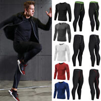 Thermal Mens Compression Base Layer Top Skin Under Fit Shirt Leggings Pants US