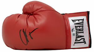 Chad Johnson Signed Red Left Hand Everlast Boxing Glove BAS