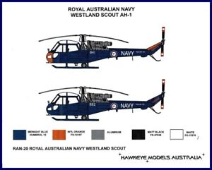 1/48 RAN DECALS; Westland Scout Helicopter