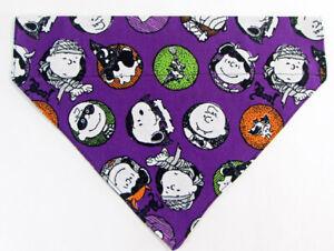 Peanuts Halloween Dog Bandana Over the Collar dog bandana  Dog collar bandana