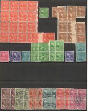 US Scott #803//829 Prexie Estate Lot Mint NH coils blocks singles & USED blocks!