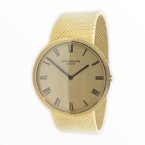 .Vintage Patek Philippe Calatrava 18ct Gold 36J Auto Mens Wrist Watch Ref 3588-1