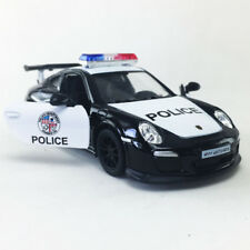 2010 PORSCHE 911 GT3 RS Police Die-Cast Model Car Kinsmart 1:36 Toy Black Hobby2
