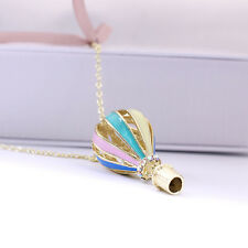 New1 Pcs Womens Colorful Fire Balloon Necklace Hot Air Balloon Pendant Chain