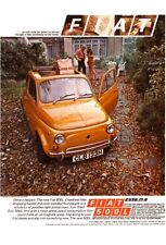 Fiat 500L  c1970 New Jumbo Fridge Magnet