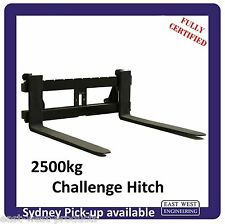 CHALLENGE STYLE QUICK HITCH PALLET FORKS  2500kg QCH25E for tractors CERTIFIED