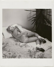 Original vintage 1970s reclining nude with mask, risque underwear