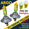 H7 477 Xenon Yellow Optics Halogen Headlight Lamps 501 Led Side Light Bulbs 12v